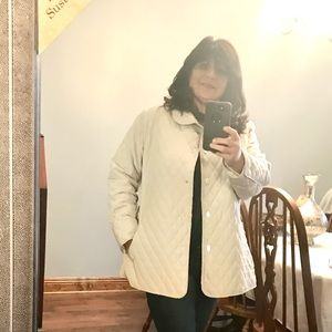 Ivory Quilted Jacket size 2X